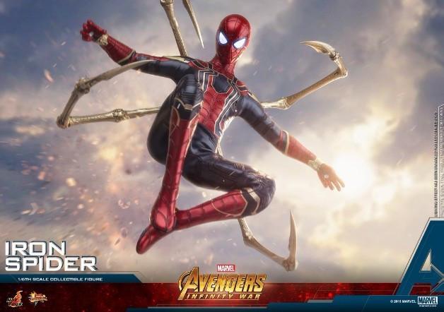 复仇者联盟3 钢铁蜘蛛战衣 外附魔骨的四蛛矛