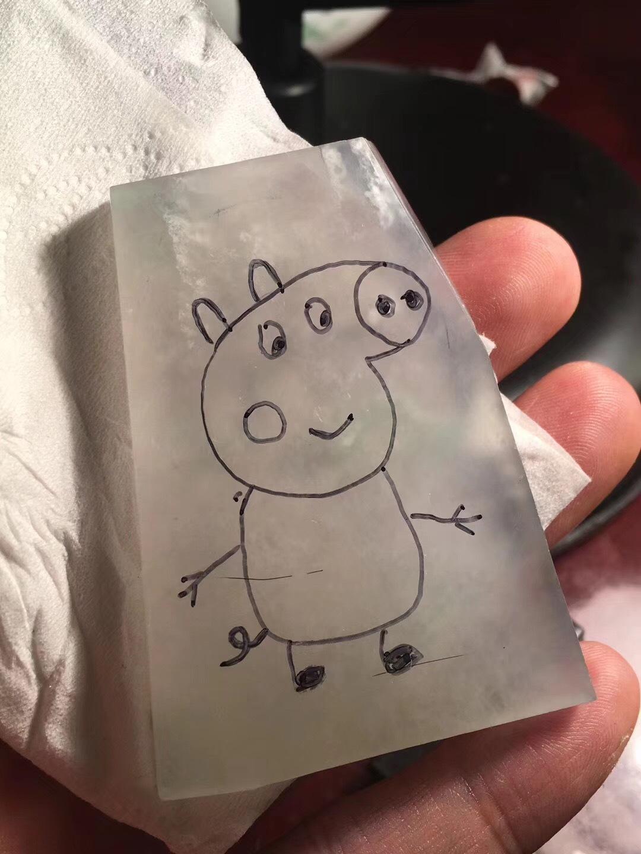 遇上小猪佩奇,玉雕师也走上了社会人的不归路