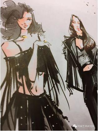 时尚服装手绘,装饰插画,ip形象设计样样擅长,她的时尚手绘曾经被日本