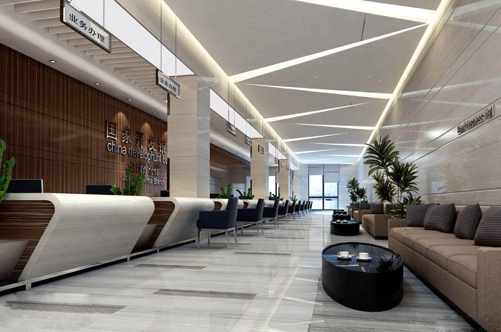 福利第一波办公室装修大厅装修效果图