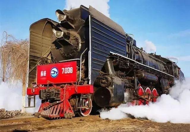 前进型蒸汽机车图片