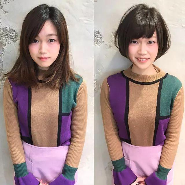 8位日本妹子打理头发的前后对比