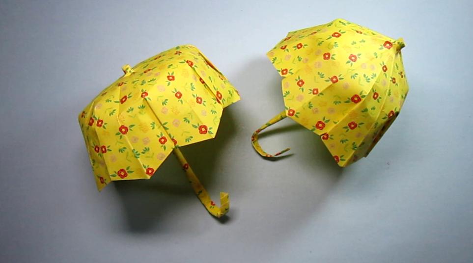 怎么折纸伞,小学生手工简单又漂亮伞的折法,diy手工图片