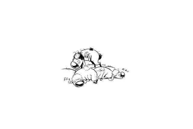 儿童思考手绘插画