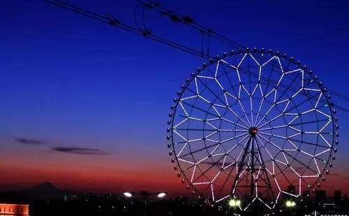 摩天轮的顶点有177公尺,相当于33层楼的高度.