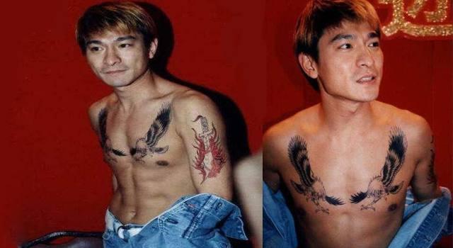 刘德华的老鹰,甄子丹的卧龙,明星玩纹身,古天乐的小老虎最逗!