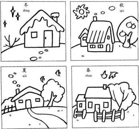 简笔画大全,春季所有的元素都在这里啦!幼师,家长替孩子收藏!图片