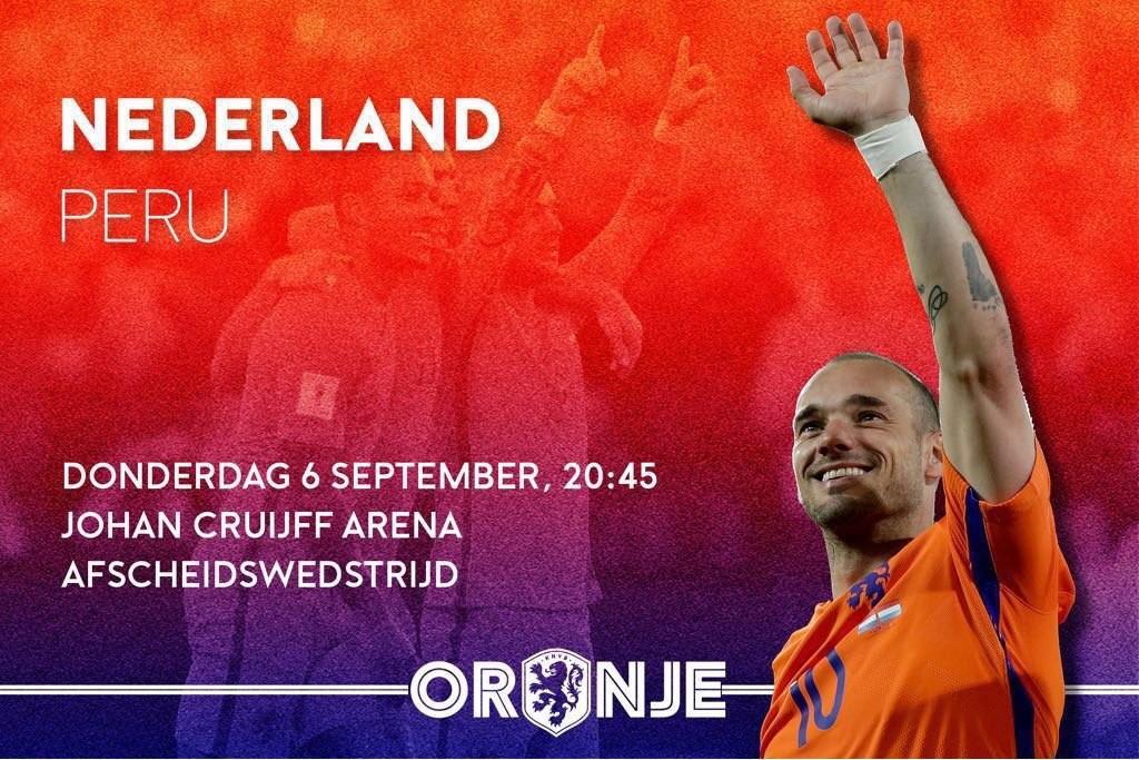 荷兰宣布为斯内德办告别赛 9月6日传奇正式谢幕