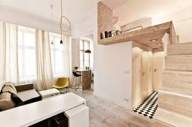 就是喜欢这样的单身公寓,单间变复式!