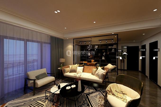 1,客厅装修:港式装修追求质地的纯粹与造型的简洁.图片