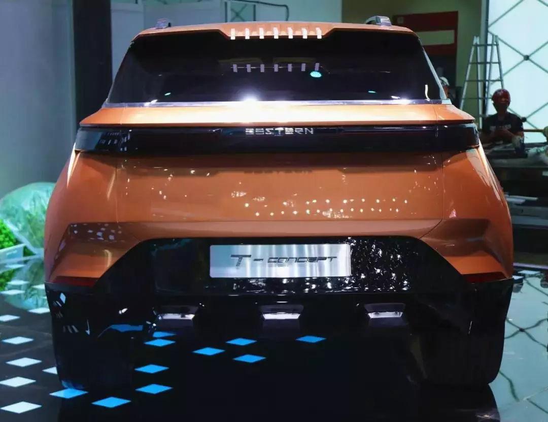 全新车标,一汽奔腾T77概念车抢先看