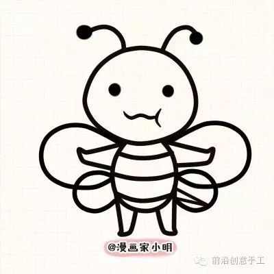 教小盆友画一只勤劳的小蜜蜂图片