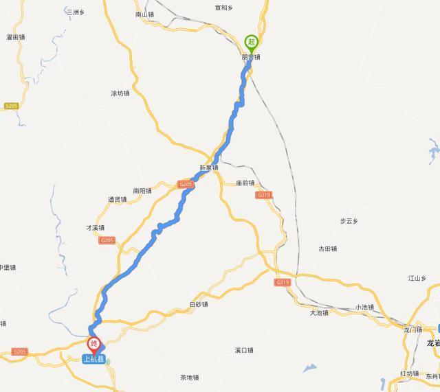 龙岩连城旅游地图