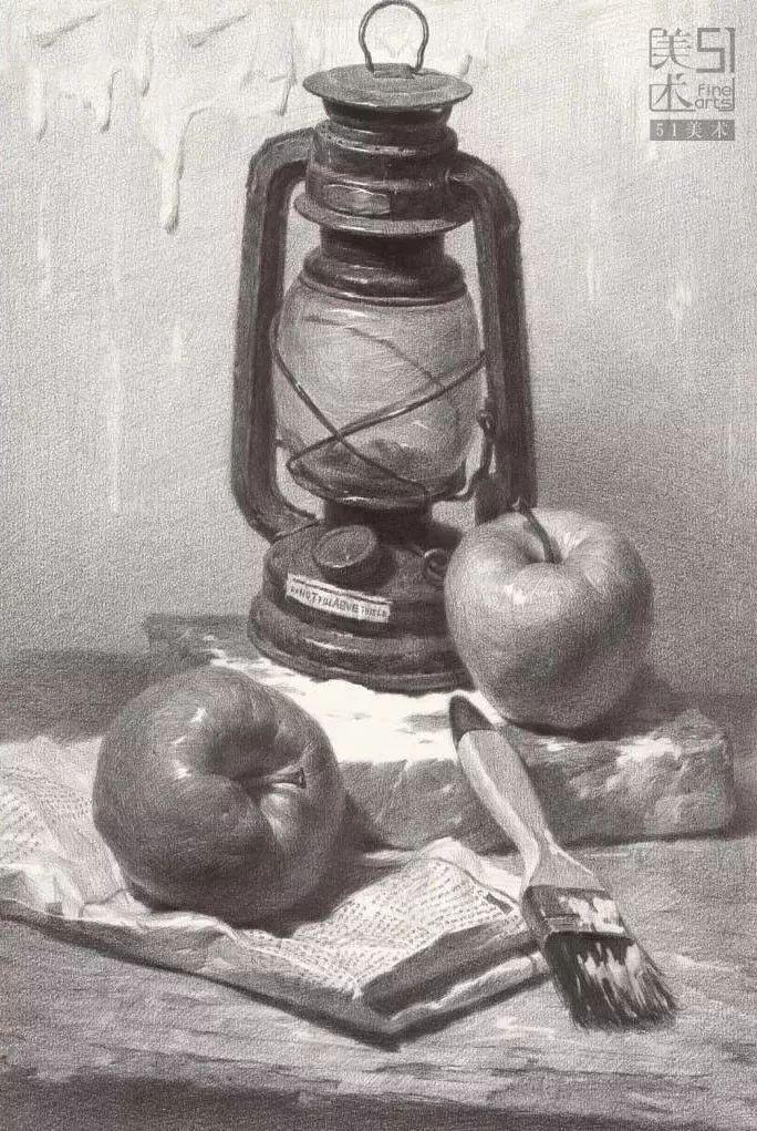 素描静物:苹果 梨全面解析,必看!图片