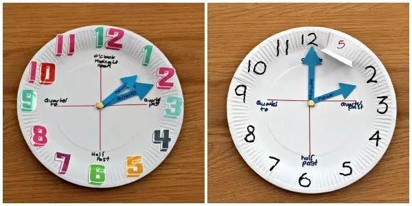 【时钟手工】幼儿园玩教具手工时钟,培养孩子的时间