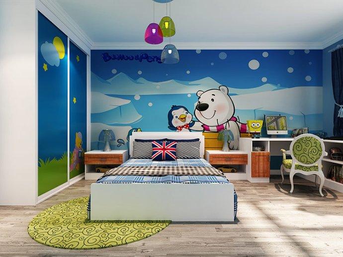 时尚 正文  儿童房设计得好就是营造一个家庭氛围,让孩子感受艺术的