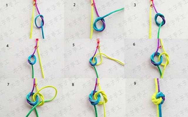 步骤图解吧 这个手链主要用到的结有金刚结,曼陀罗结,平结, 还有绕线