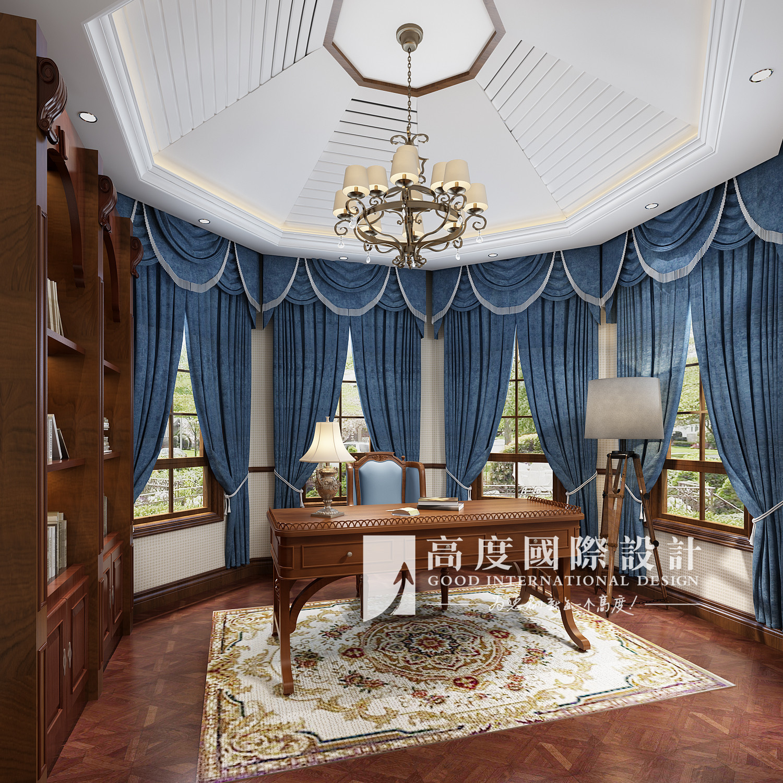 本案基本以木制家具为主,地面采用的仿古砖和地板,仿旧的材质富有历史图片