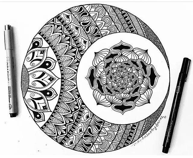 手绘曼陀罗图案教程