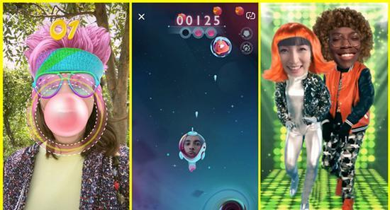 Snapchat发布多人互动AR游戏Snappables