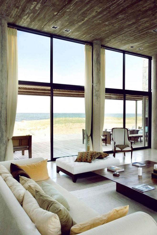 別墅客廳窗簾