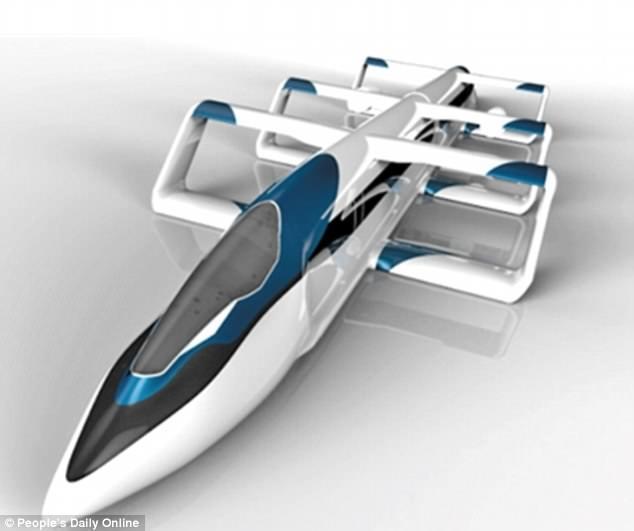 中日研发气动悬浮列车 时速400-500公里