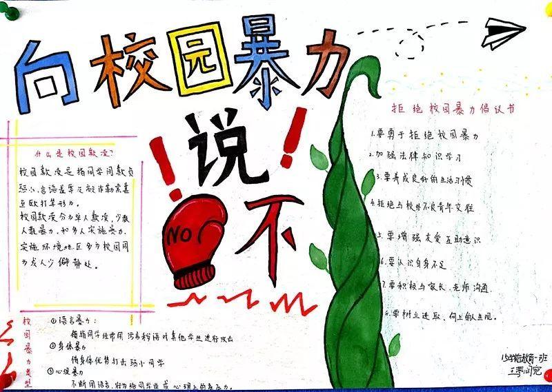 """青岛艺术学校""""反欺凌,倡文明""""手抄报作品展"""