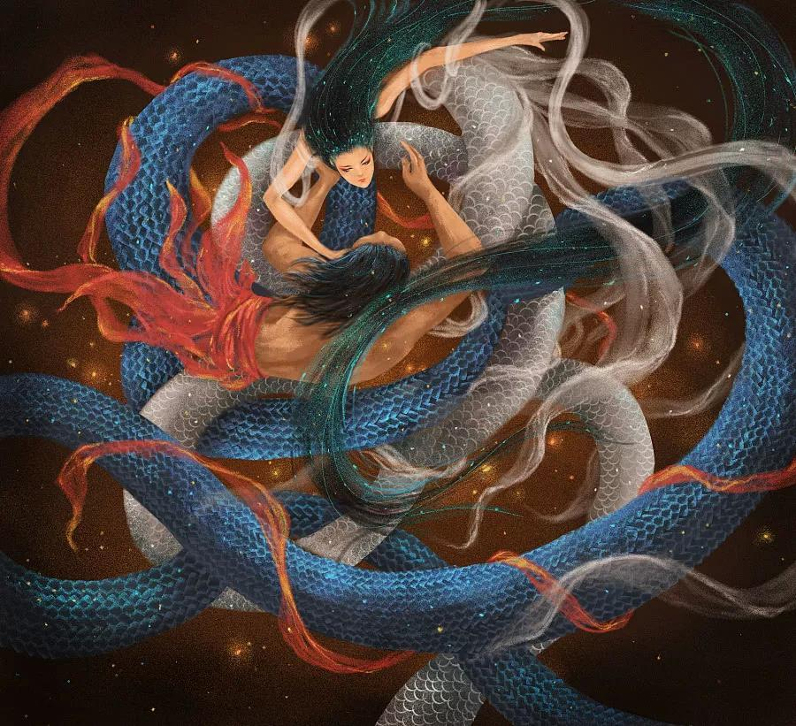中国神话人物女娲真的是半人半蛇吗?