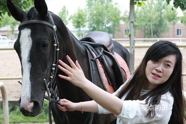 策马追风最是英姿飒爽  美女也爱汗血宝马 - 视点阿东 - 视点阿东