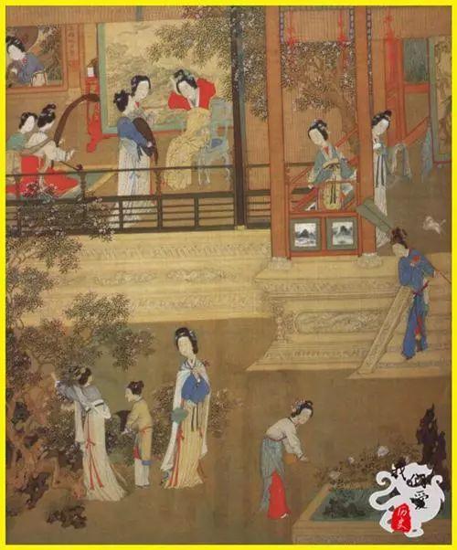 古代集市手绘场景