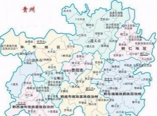 贵州省位于我国西南地区;江西省位于我国东南部,属华东地区.