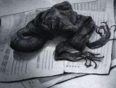 素描基础:素描黑白灰画法,黑白灰小稿训练