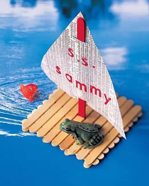 儿童手工制作船方法