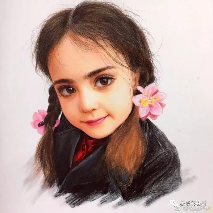 又一幅~最美小萝莉!彩铅手绘人物过程