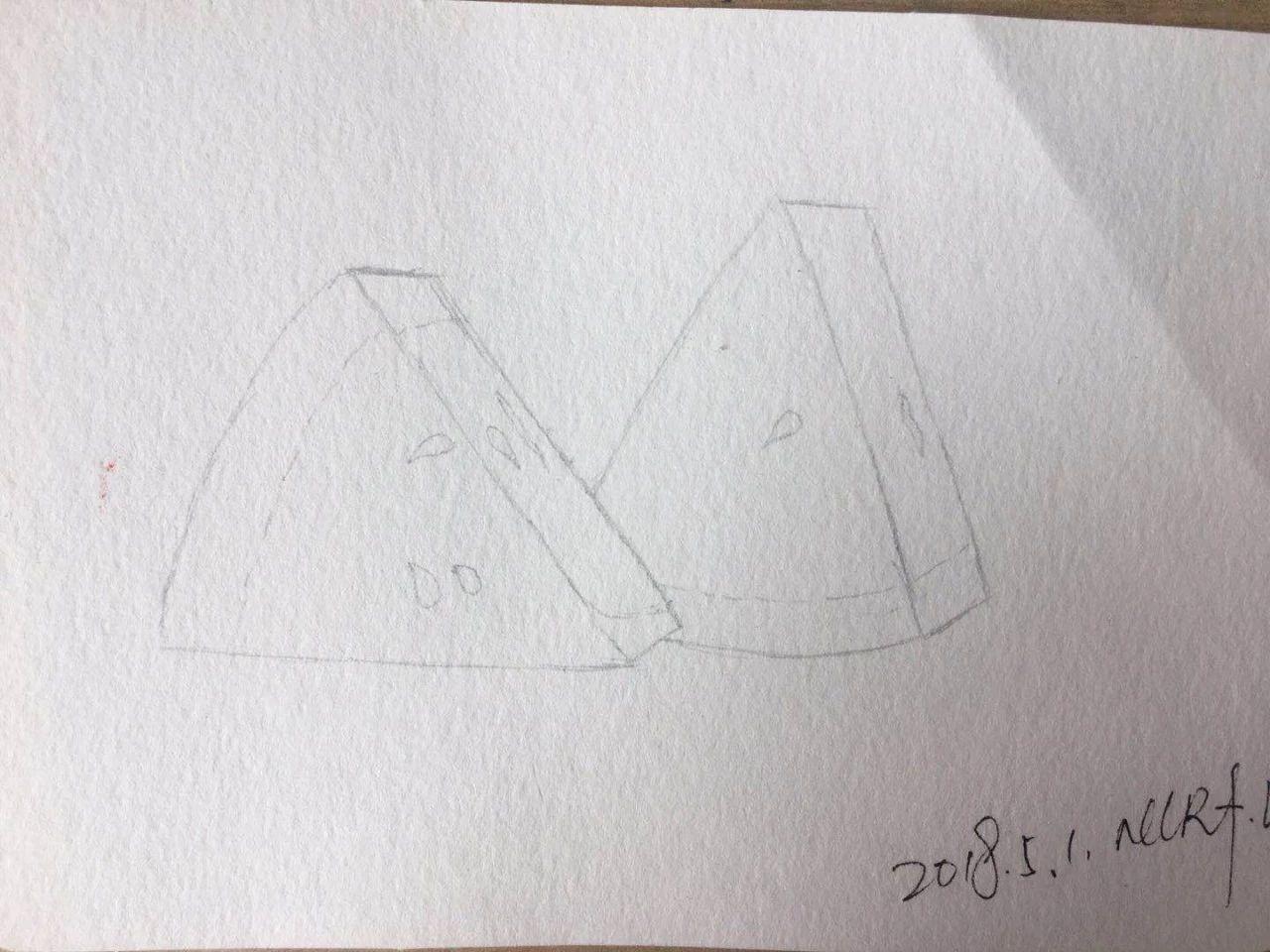 零基础绘画教程 彩铅 西瓜