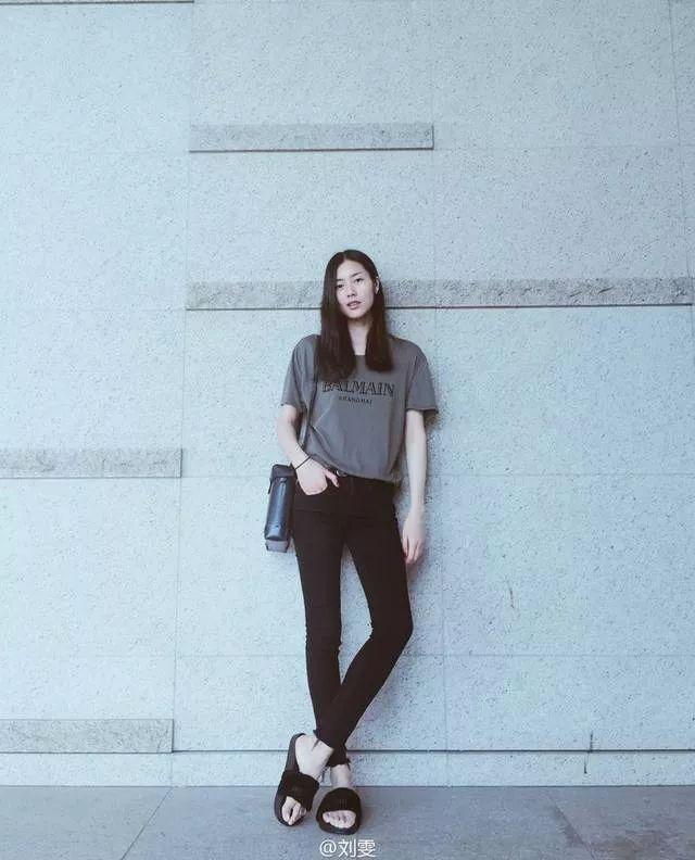 刘雯模特健身照