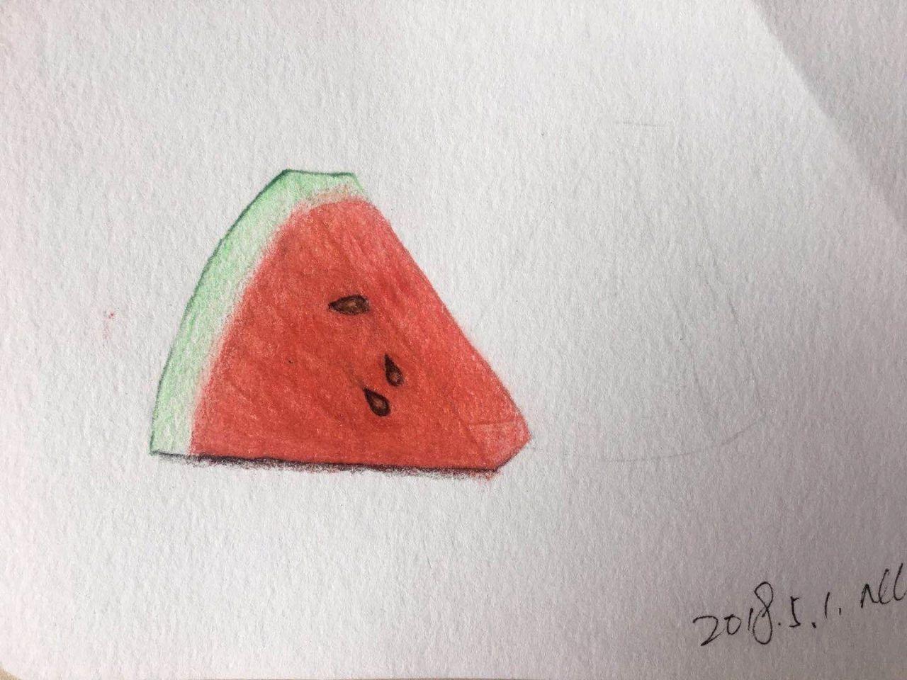 零基础绘画教程-彩铅《西瓜》