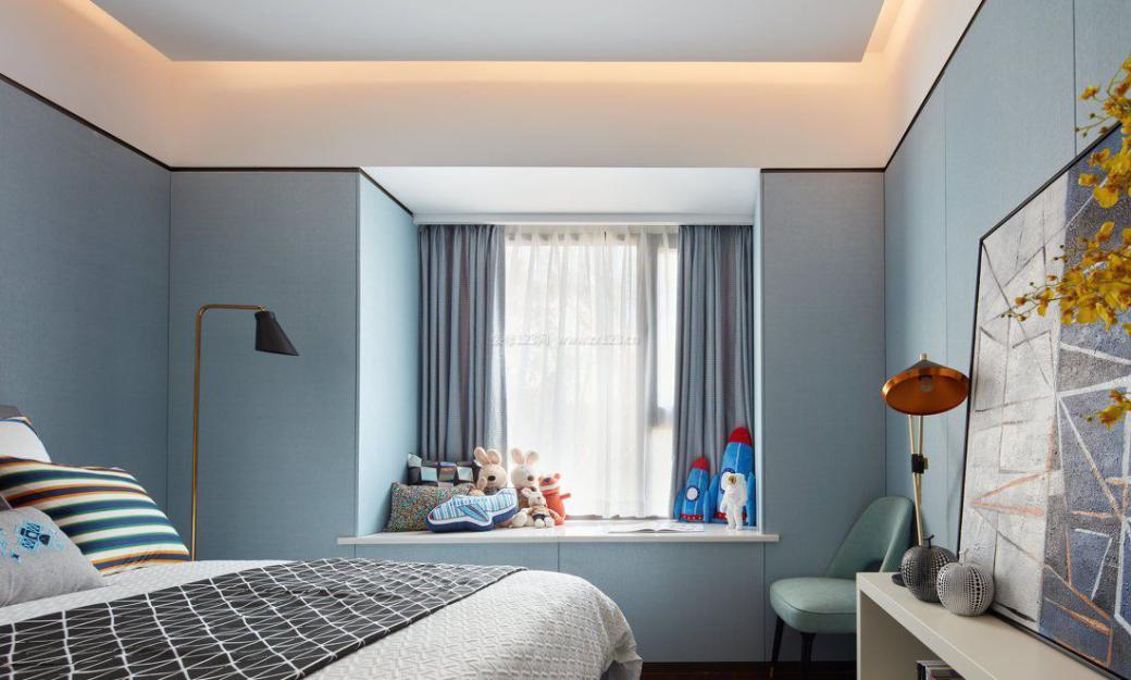 卧室飘窗设计成这样 起床困难症都被治好了