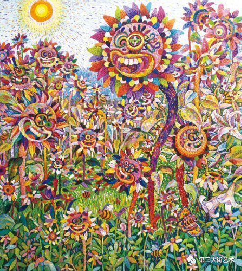 祖国的花朵 200×180cm 布面油画 2017图片