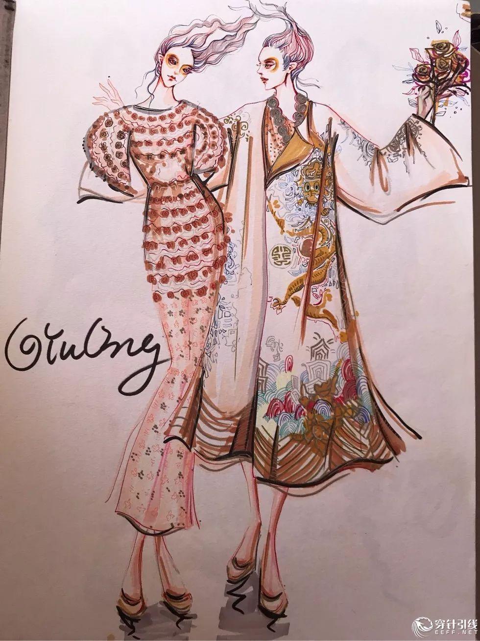 时装手绘 | 马克笔手绘——服装效果图