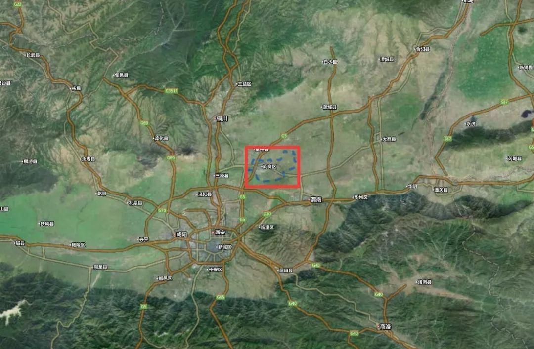阎良卫星地图图片