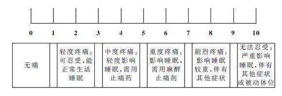 1. 疼痛数字模拟量表