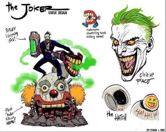 xm studios dc漫画 小丑joker 1:6雕像图片