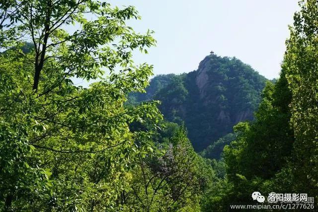 藍天白云山水相宜,大美汝陽龍隱景區游