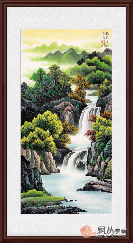 满园春色关不住 画家刘燕姣山水画作品《林泉清韵》来源:易从网图片