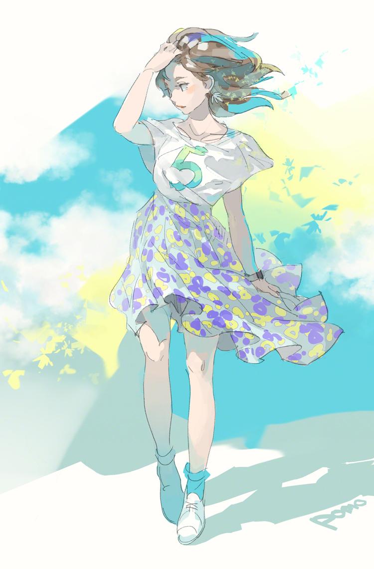 动漫美图丨感受触碰你的风,飘扬发丝的少女特辑