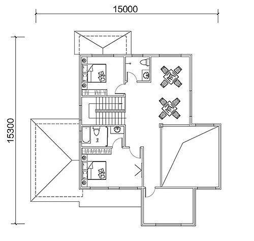 轻钢别墅效果图及设计图①图片