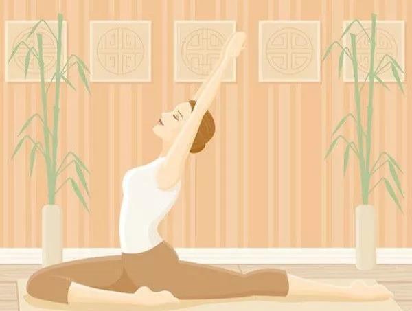 产后瑜伽动作图片