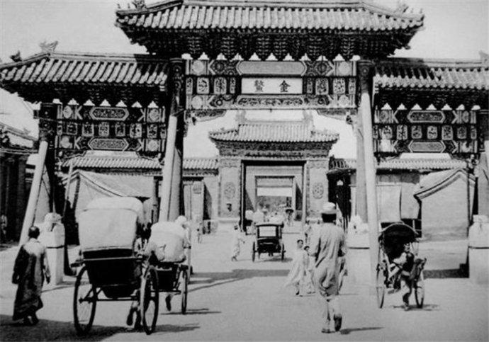历史瞬间之老照片上的民国老北京牌楼