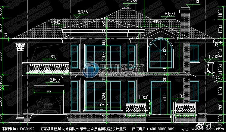烟囱带别墅a烟囱二层私人设计别墅及效果图度假广州图纸图片